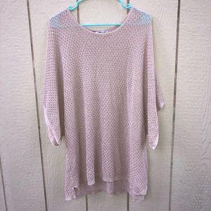 Jennifer Lopez rosegold sparkle sweater size XL
